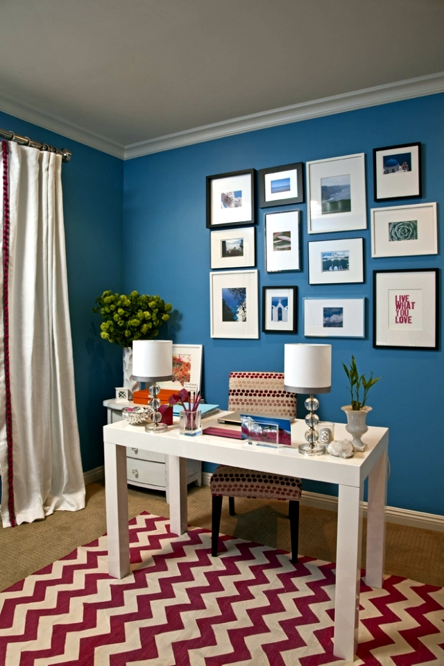 Located 20 examples of how accents bright multicolored carpet in the room