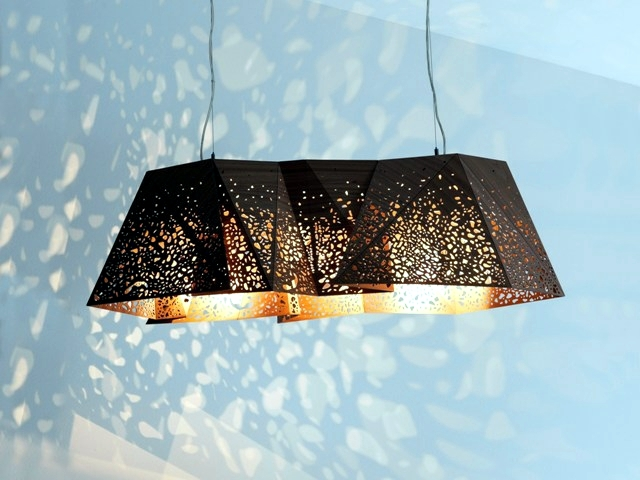 contemporary pendant lamp wood products plays of light and. Black Bedroom Furniture Sets. Home Design Ideas