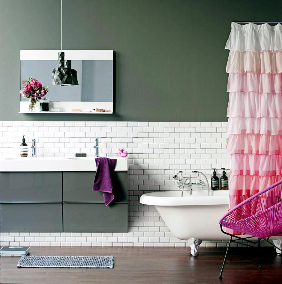 Volant romantic shower curtain interior design ideas ofdesign
