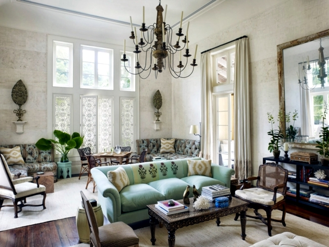 Furniture eclectic mix of classic and modern style of life