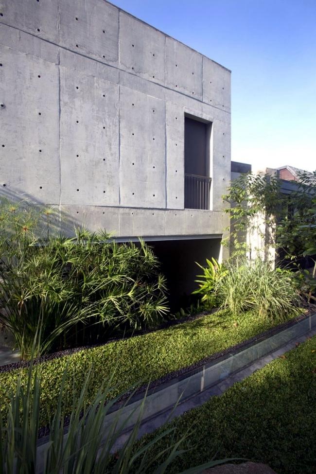 Exposed concrete