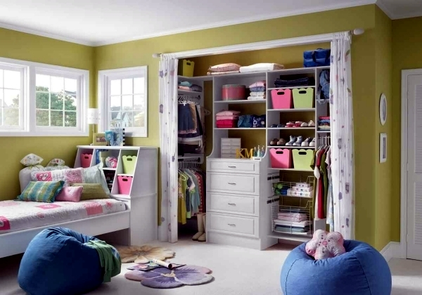 Ideas For An Open Closet And Shelving System.