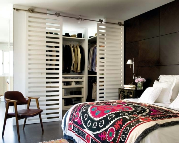 Ideas For The Open Closet In The Room   How To Hide?