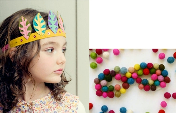 Children make costumes and colorful ancillary