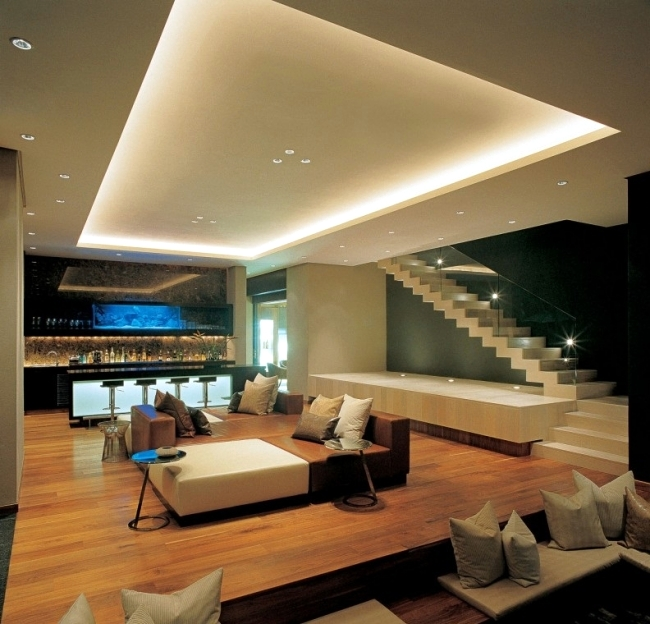 33 ideas for beautiful ceiling and LED lighting Interior Design