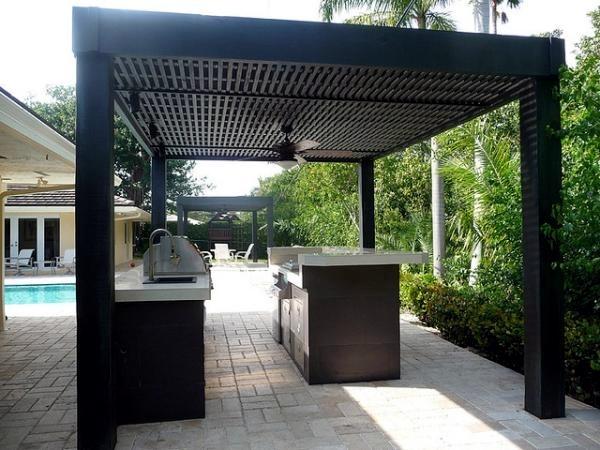 Modern garden designs pergola increase the visual value of for Garden design visualiser