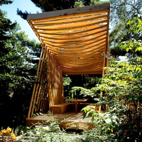 Modern Garden Designs Pergola Increase The Visual Value Of