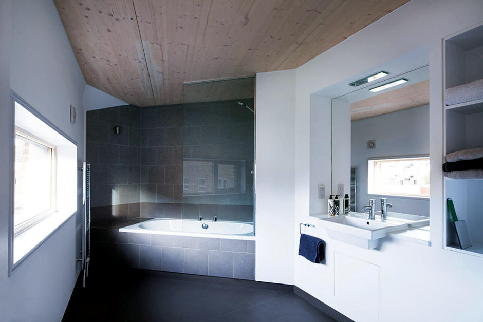 Http Www Ofdesign Net Interior Design Wooden Ceiling Panel In Bathroom 5599