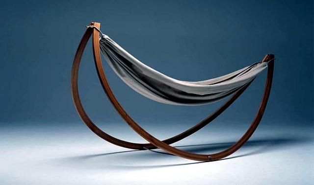 Woorock by Georg Bechtel - Swing Hammock with wooden frame