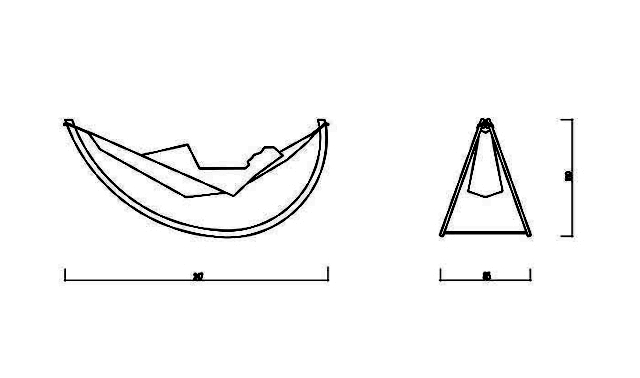 Woorock by Georg Bechtel - Swing Hammock with wooden frame