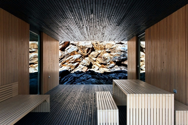 A minimalist house dressed only with wood