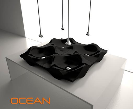 Bandini Modern Sink Design - Sculptural forms in the bathroom