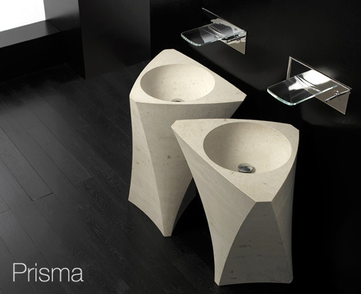 Bandini Modern Sink Design - Sculptural forms in the bathroom