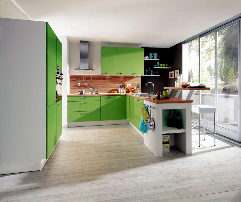 Kitchen Cabinets in light green  Interior Design Ideas  Ofdesign