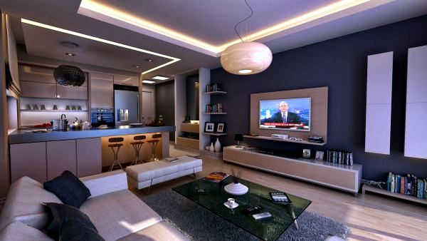 Bachelor apartment ideas-70 living room, revealing his character