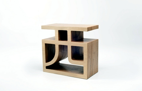 Wooden bookcase combines functionality and original design