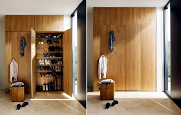 Corridor Modern Design Offering Wood Furniture Storage