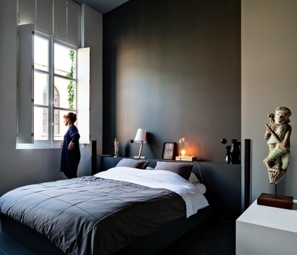 wall design with dark colors - 15 Effective Interior Design Ideas
