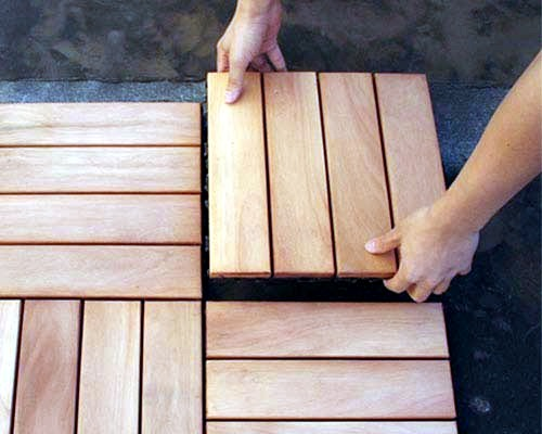Sort wooden tiles on the balcony - Quick Tutorial and Tips