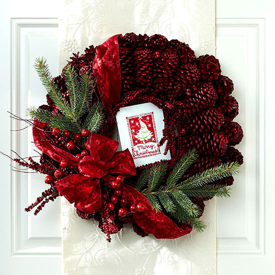 Craft Christmas wreath - 25 inspiring ideas to make your own