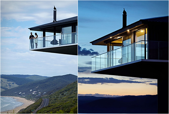 A 40 meters above the floor of the houseboat in Australia