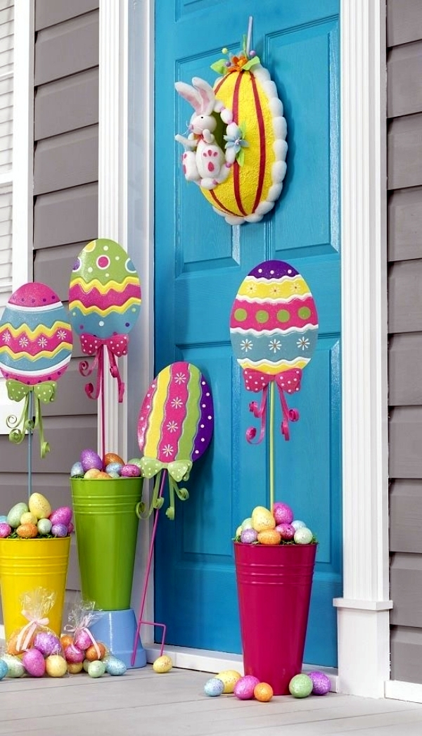 outdoor easter decorations 27 ideas for the garden and home exterior interior design ideas. Black Bedroom Furniture Sets. Home Design Ideas