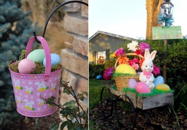 Outdoor Easter Decorations 27 Ideas For Garden And Entry Into