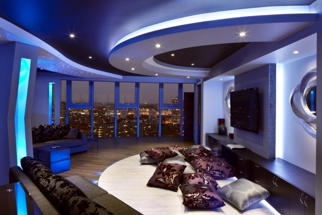Bon 33 Examples Of Modern Living Room Ceiling Design And Life
