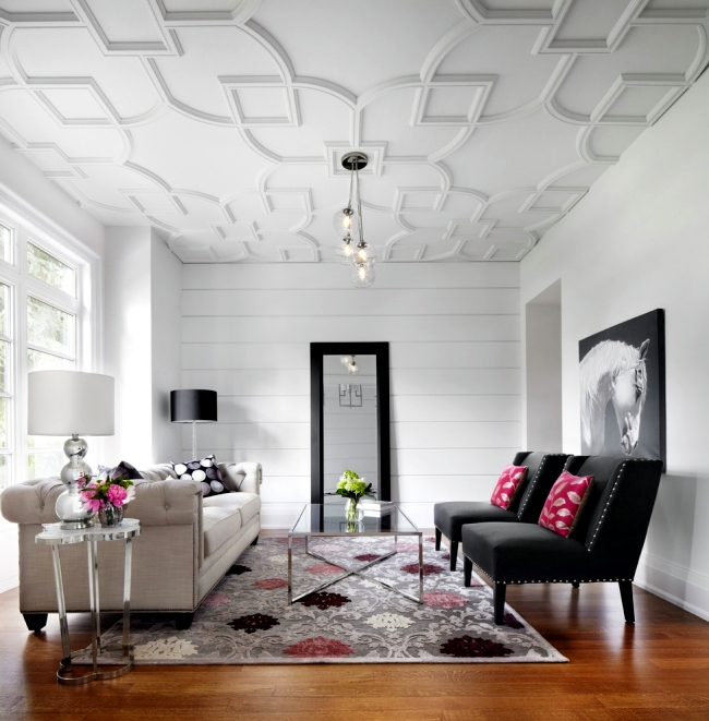 33 examples of modern living room ceiling design and life for Apartment design examples
