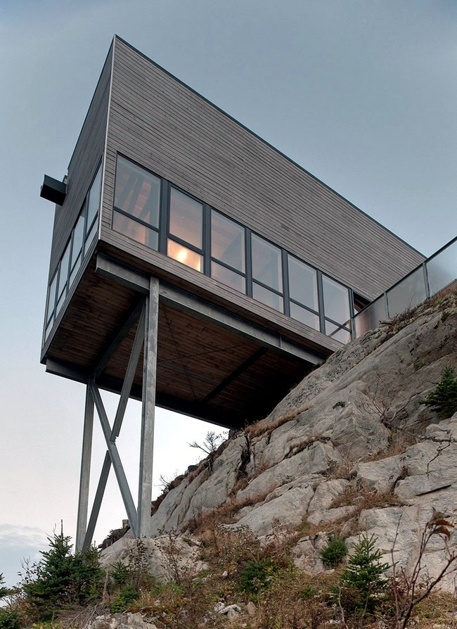 modern wooden house on the rock on the coast of nova scotia rh ofdesign net