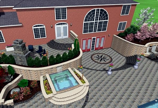 3d Garden Design Software Exterior Home Decorating Anlage Imanada