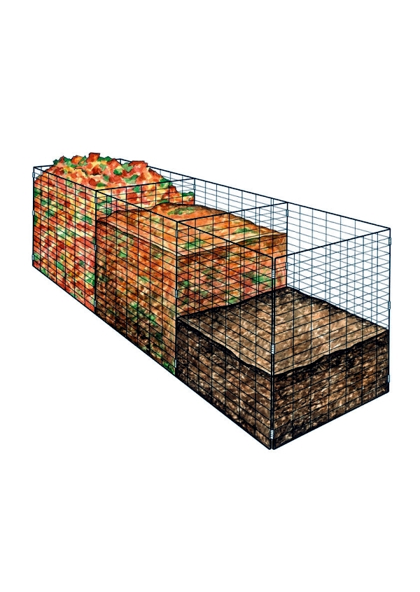 Bins of wood bio-compost to build yourself - instructions in easy steps