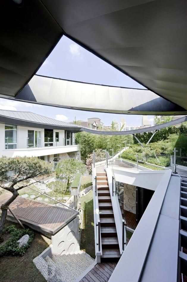 Modern Architecture Origin i house with hipped roof – roof original form influenced modern