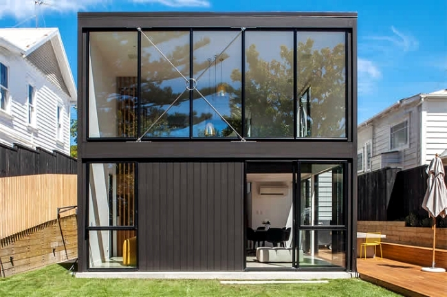 Cube Shaped House Built As An Extension Of The Traditional