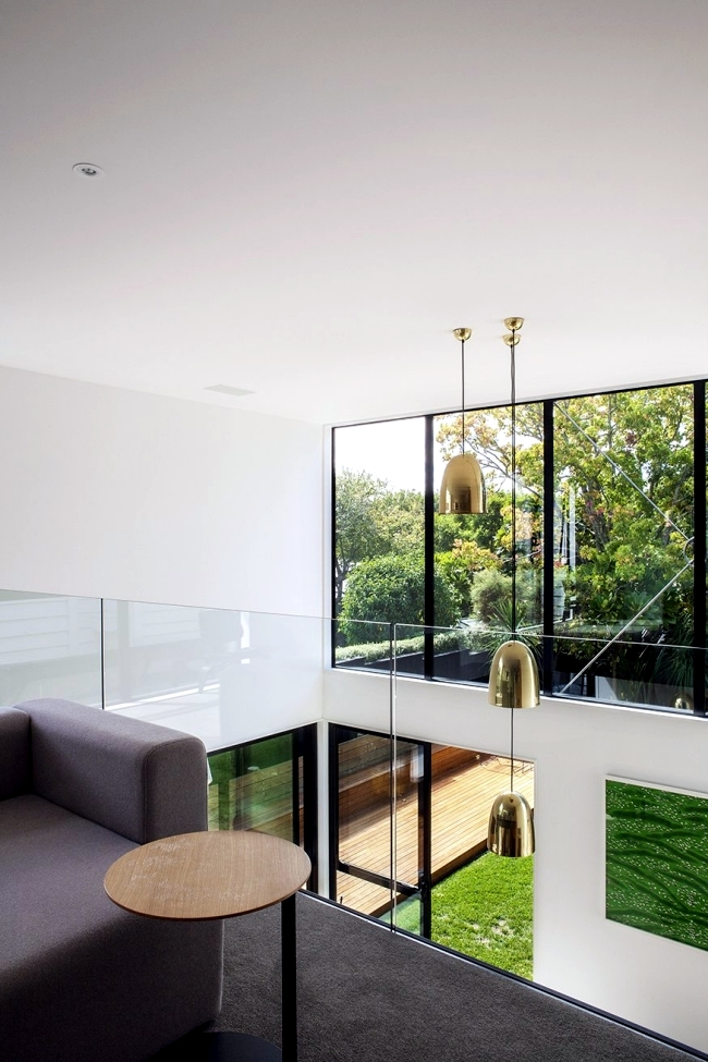 cube-shaped house built as an extension of the traditional house