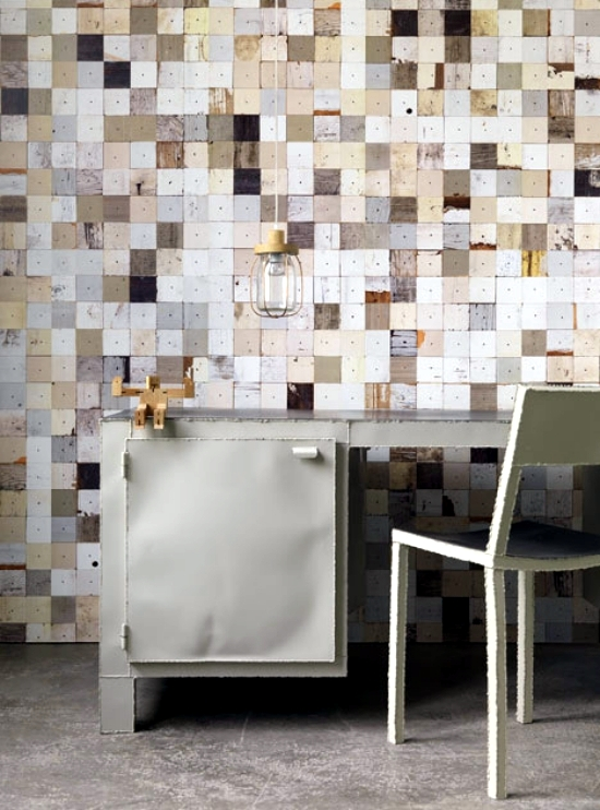 Wallpaper design a great idea for the wall design of Piet Hein