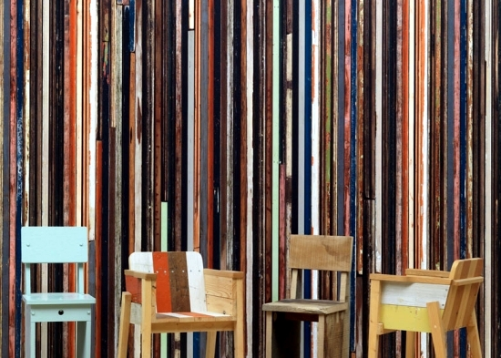 Wallpaper design - a great idea for the wall design of Piet Hein Eek