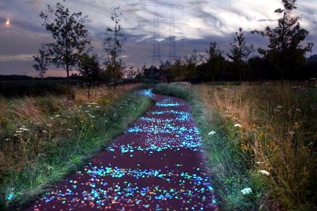Bike Lane Interactive Netherlands Shining In The Night Interior Design Ideas Ofdesign