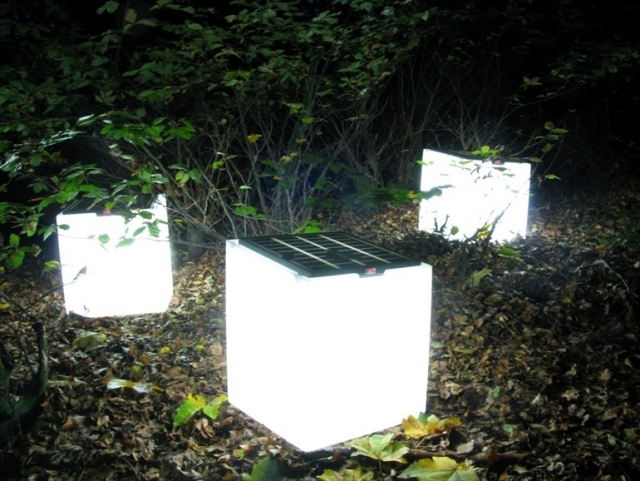 Solar garden lights - garden paths and garden beautiful night light