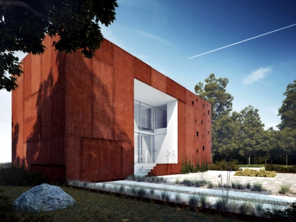 Holiday house with garden and creative facades