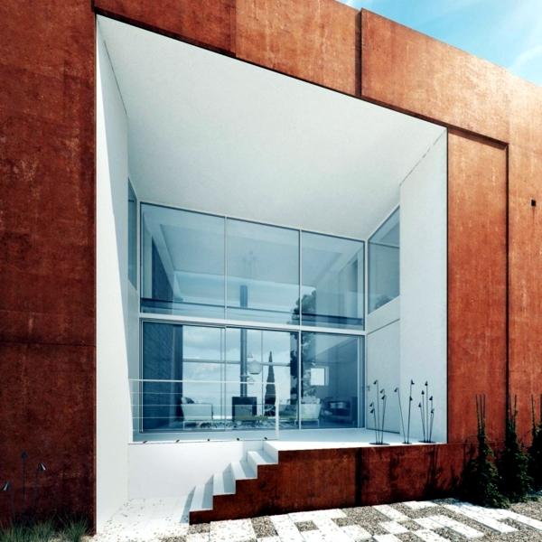 Holiday house with garden and creative facades