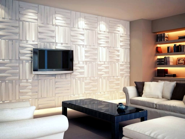 88 ideas for wall design with wood, stone, wallpaper and more ...