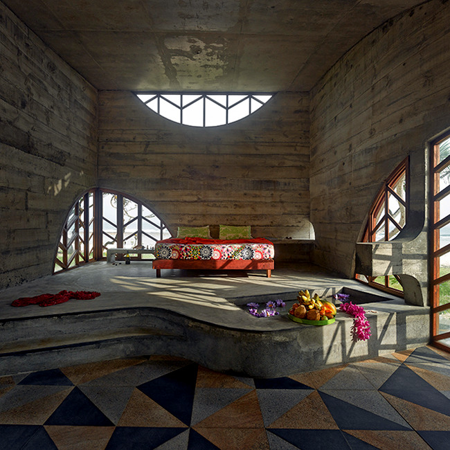 Design Beach Hotel Pacific in Australia is similar to the ancient ruins