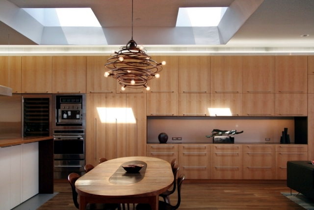 Modern chandelier lights up - 30 luxury style ideas for home