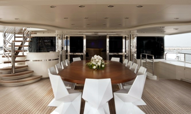 Luxury living room furniture Darlings Vondor on yacht