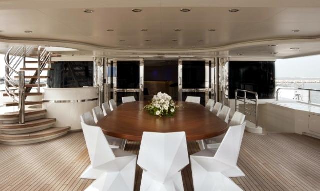 Luxury living room furniture Darlings Vondor on yacht