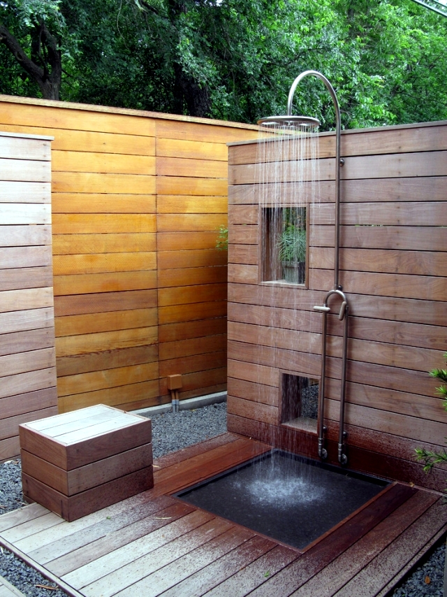 31 ideas for garden shower - What material is best?