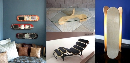 ideas for upcycled furniture design – skateboard parts | interior, Attraktive mobel