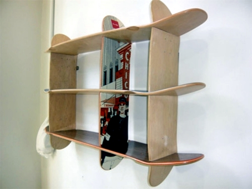Unique wooden furniture design - Ideas For Upcycled Furniture Design Skateboard Parts