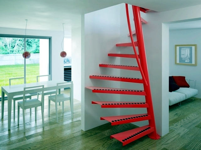 Square Spiral Staircase 1m2 With Small Dimensions Interior